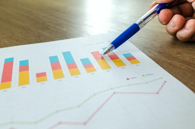 kolorowe wykresy danych